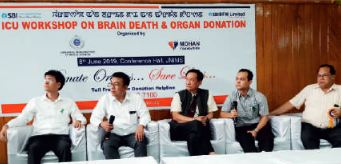 ICU Workshop on Brain Death and Organ Donation organized at Jawaharlal Nehru Institute of Medical Sciences, Imphal, Manipur