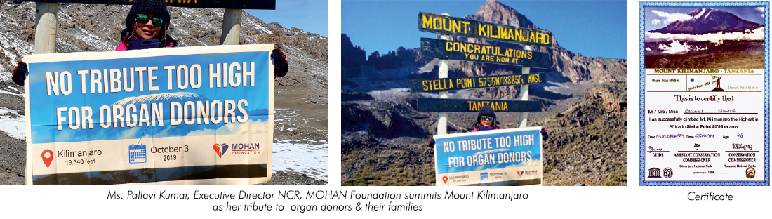Pallavi Kumar summits Mount Kilimanjaro as her tribute to organ donors and their families