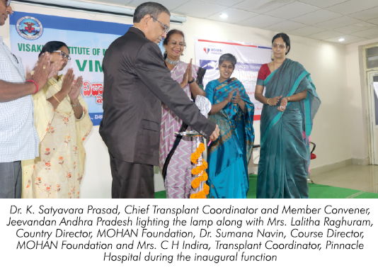 One Week Transplant Coordinators' Training Programme Held in Visakhapatnam